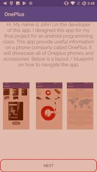 OnePlus Info poster