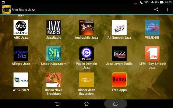Free Radio Jazz apk screenshot