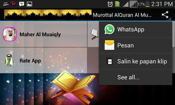 Murottal Alquran Indonesia apk screenshot