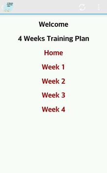 Exercise Plan 4 Weeks poster
