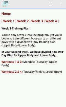 Exercise Plan 4 Weeks apk screenshot