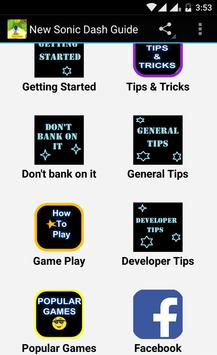 New Sonic Dash Guide apk screenshot