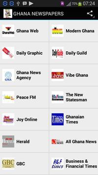 GHANA NEWSPAPERS apk screenshot