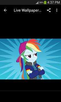 Live Wallpapers Rainbow Dash Style screenshot 5