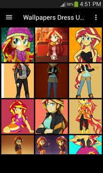 Live Wallpapers Sunset Shimmer Style screenshot 7