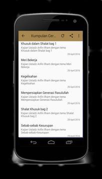 Ceramah Ust Arifin Ilham Mp3 screenshot 2
