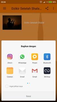 Dzikir Setelah Shalat Offline Mp3 apk screenshot