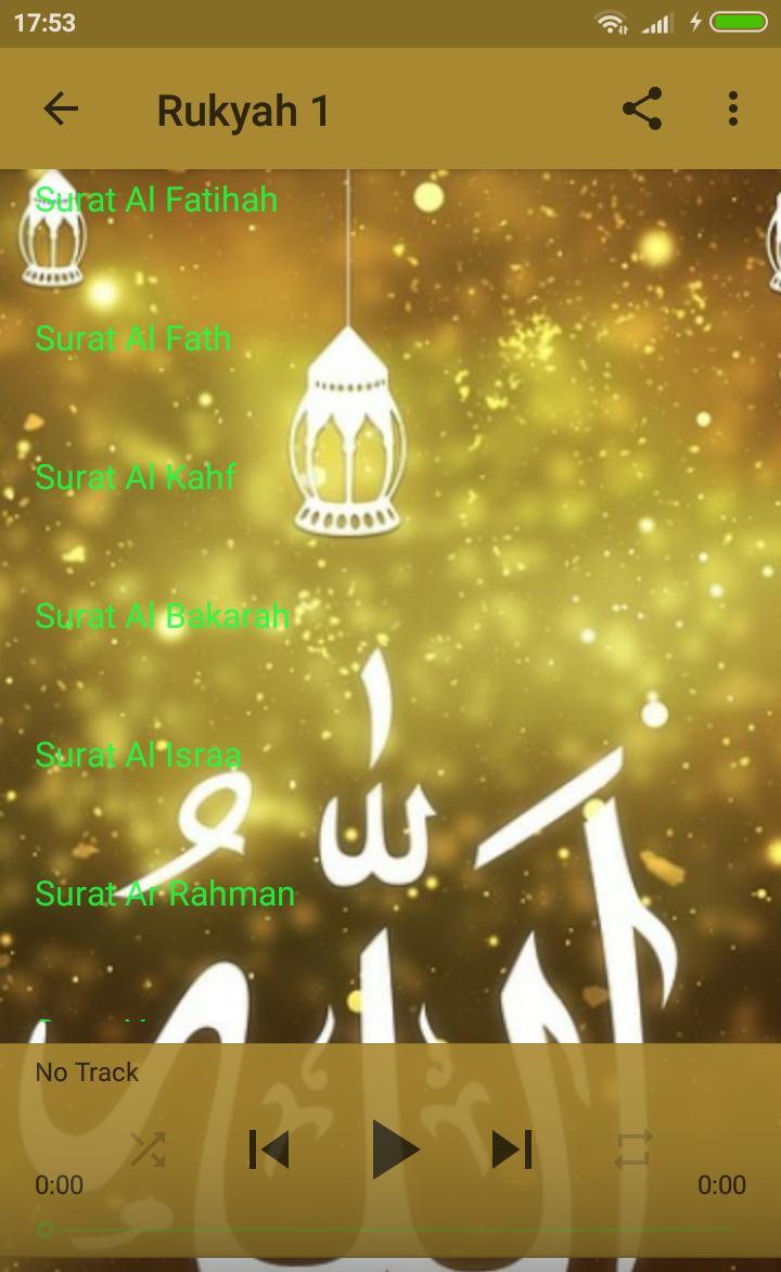 RUQYAH RAMADAN MP3 2018 poster