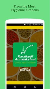 Karaikudi Annalakshmi - Food Ordering App poster