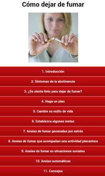 Cómo dejar de fumar poster