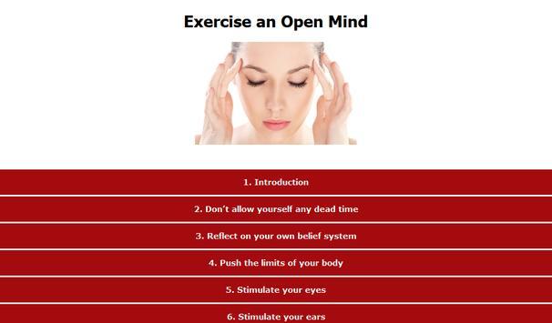 Exercise an Open Mind apk screenshot