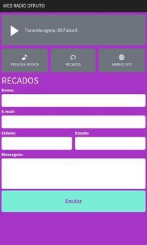 Rádio Web D'Fruto screenshot 2