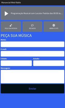 Manancial Web Rádio screenshot 1