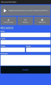 Manancial Web Rádio screenshot 2