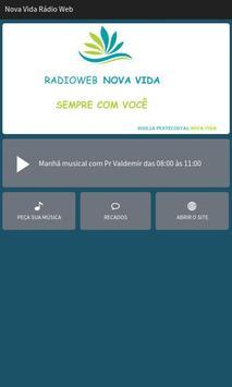 Nova Vida Rádio Web poster