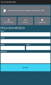 Nova Vida Rádio Web screenshot 1