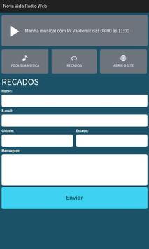 Nova Vida Rádio Web screenshot 2