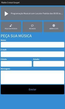 Rádio Cristal Gospel apk screenshot