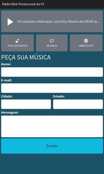 Rádio Web Pentecostal da Fé screenshot 1