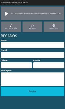 Rádio Web Pentecostal da Fé screenshot 2