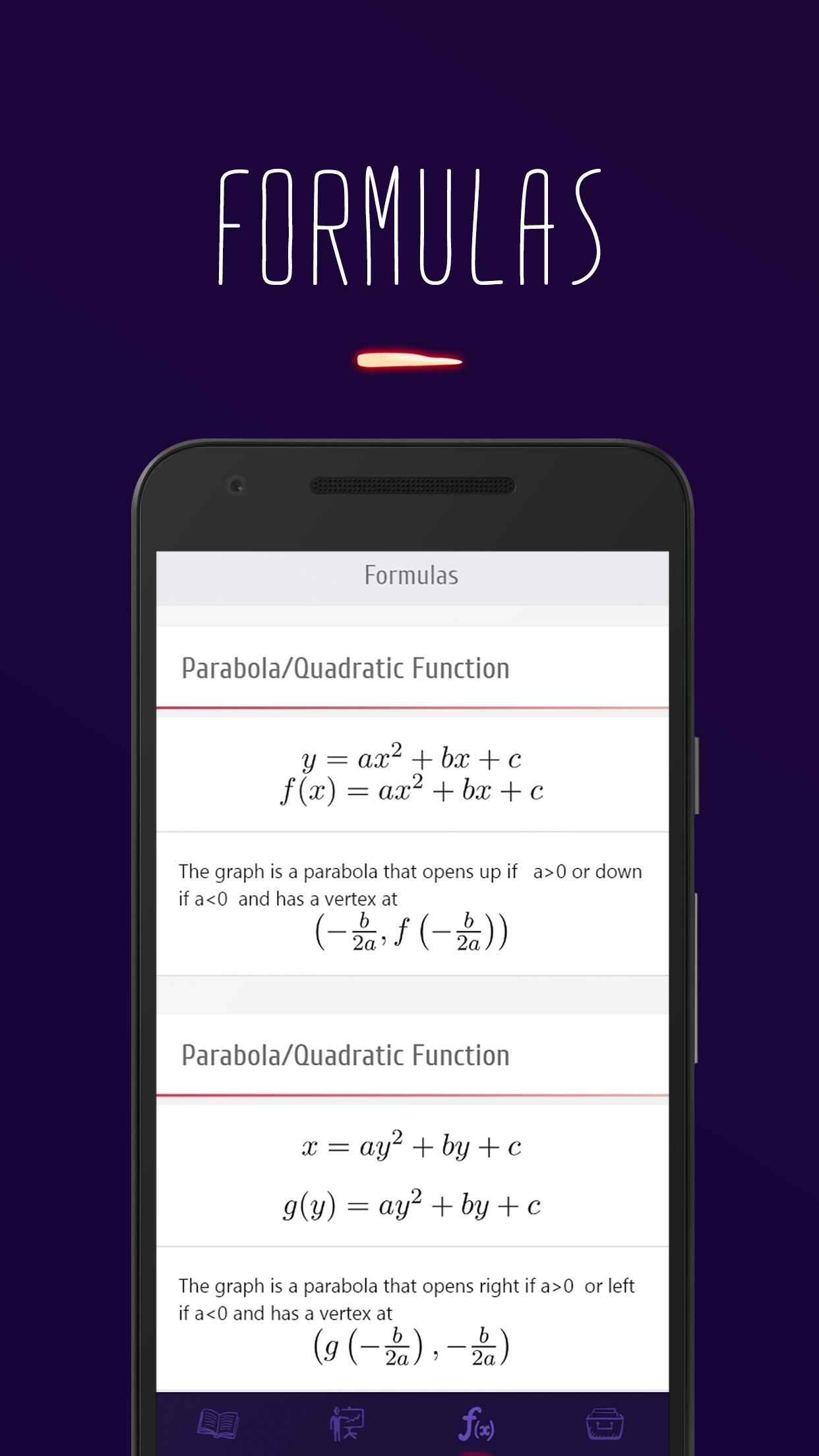 College Algebra Formulas