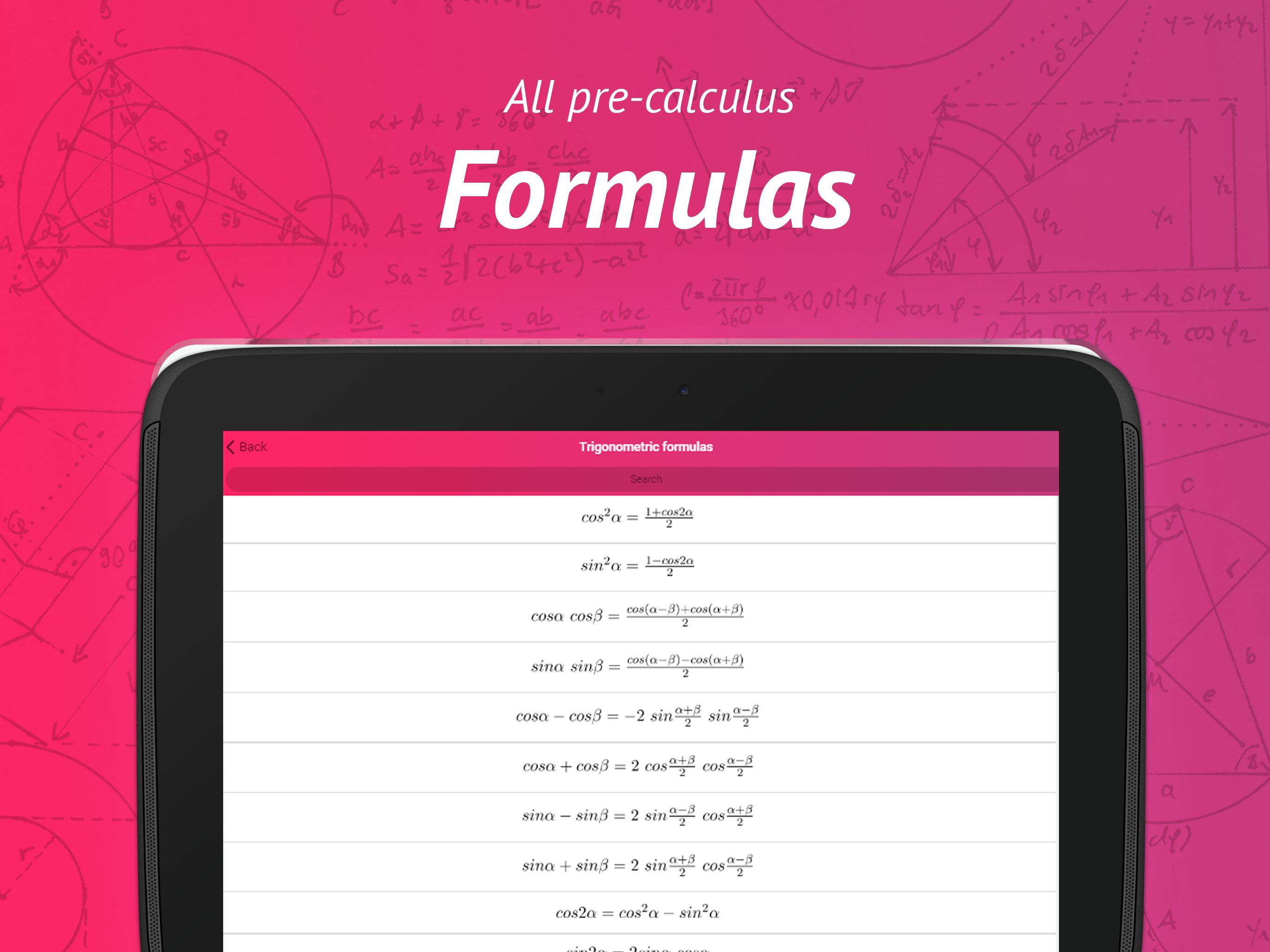 Precalculus: Formulas & Videos for Android - APK Download
