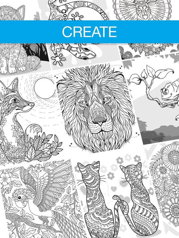 Free Adult Coloring Book App