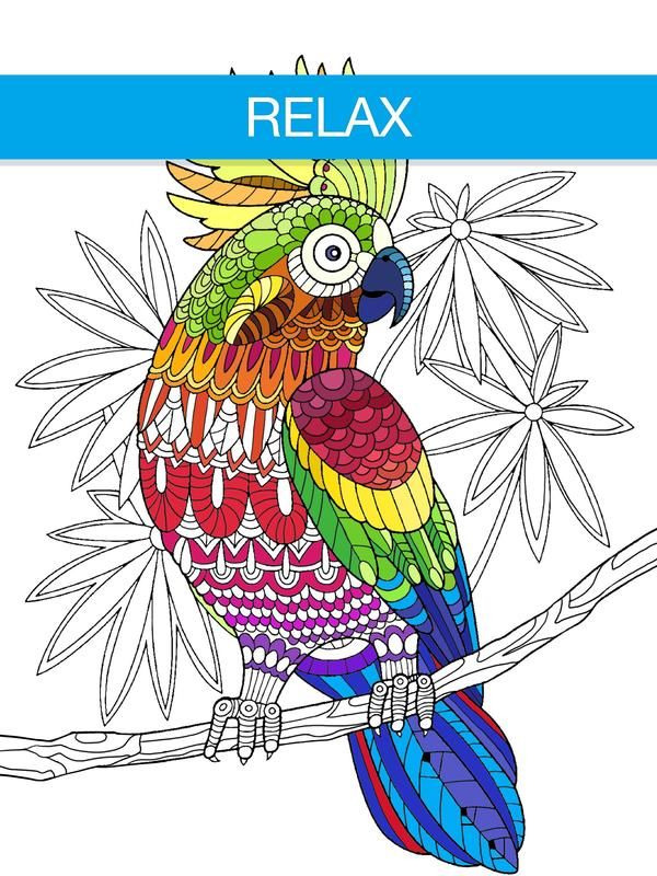 Free Adult Coloring Book App