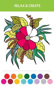 Flower Designs Coloring Book Apk Screenshot