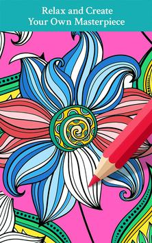 Pattern Design Coloring Book Poster