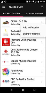 Quebec City Radio Stations - Canada screenshot 1