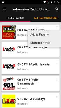Indonesian Radio Stations screenshot 1