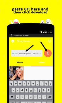snap video downloader captura de pantalla 1