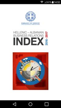 Hellenic - Albanian Business Relations Index 16-17 poster
