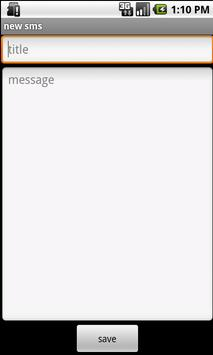 SMS Draft apk screenshot