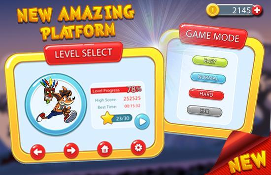 Bandicoot Crashes The Enemies apk screenshot