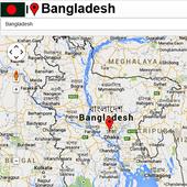 Bangladesh map icon