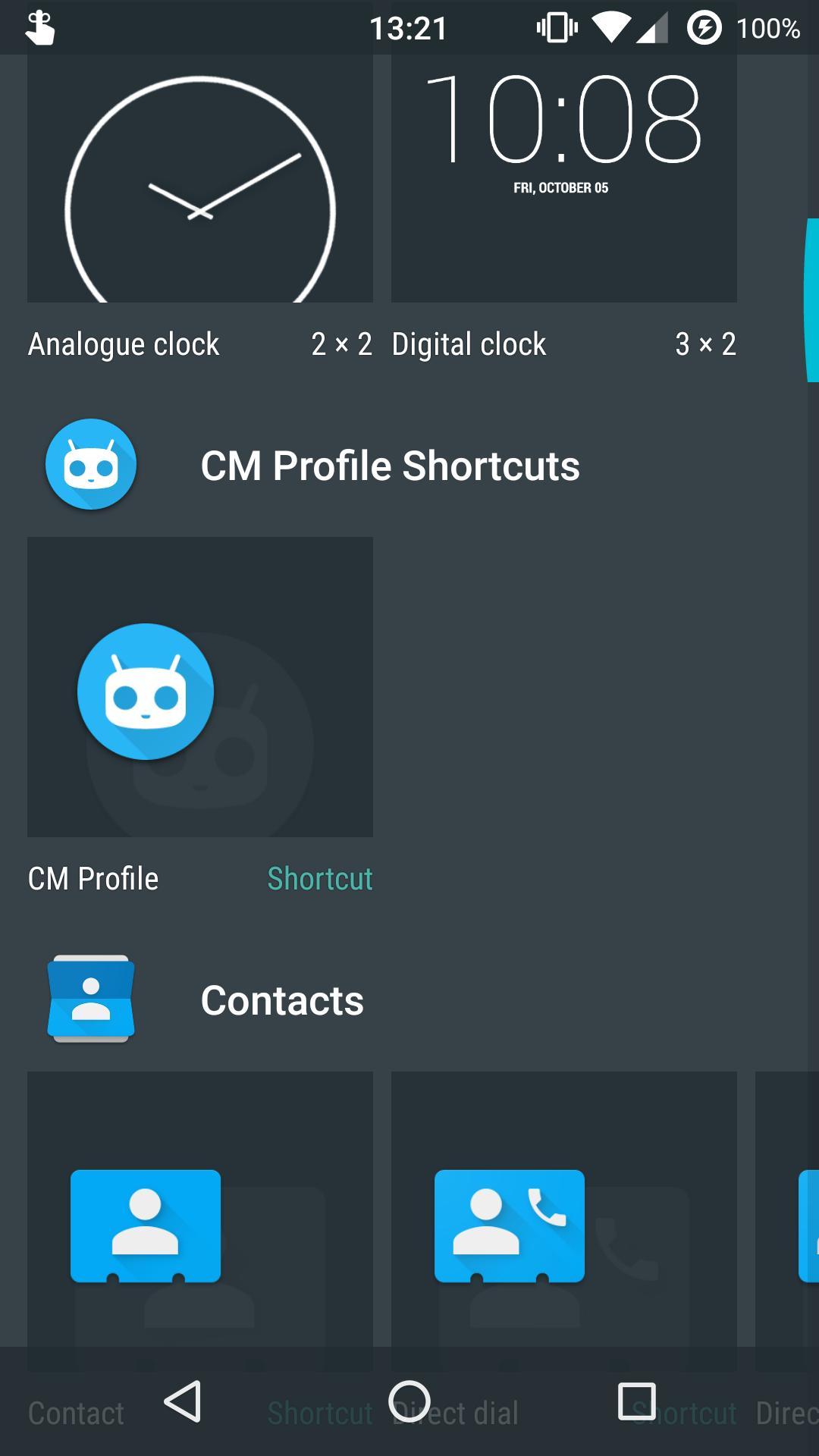 Profile Shortcuts for LineageOS pour Android - Téléchargez l'APK