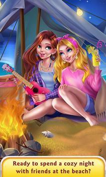 Girls Beach Party Night Salon poster