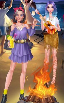 Girls Beach Party Night Salon apk screenshot