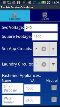 Electric Service Calculator poster