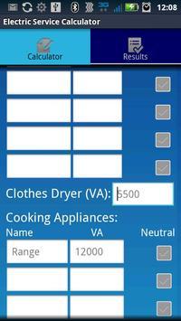 Electric Service Calculator screenshot 1