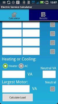 Electric Service Calculator screenshot 2