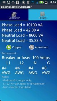 Electric Service Calculator screenshot 3