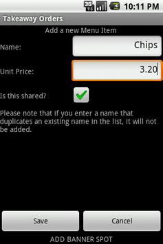 TakeAway Orders apk screenshot