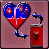 Normal finger Blood Types - Scan Pressure Prank icon