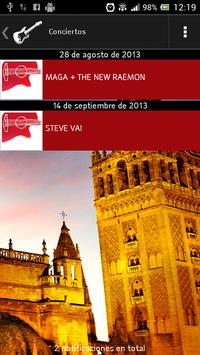 Conciertos en Sevilla apk screenshot