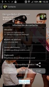 Despedidas Première apk screenshot