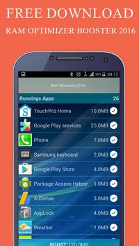 RAM Optimizer Booster 2016 apk screenshot
