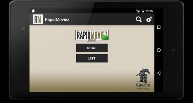 RapidMoviez apk screenshot